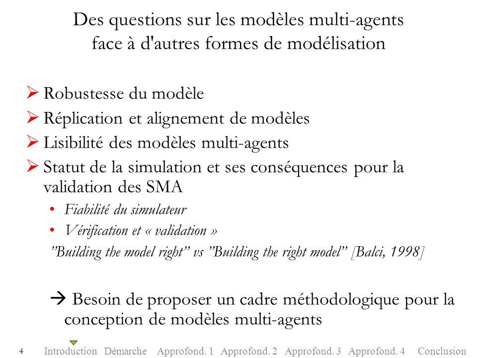 Des questions sur les modèles multi-agents face à d autres formes de modélisation