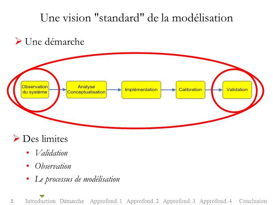 Une vision standard de la modélisation