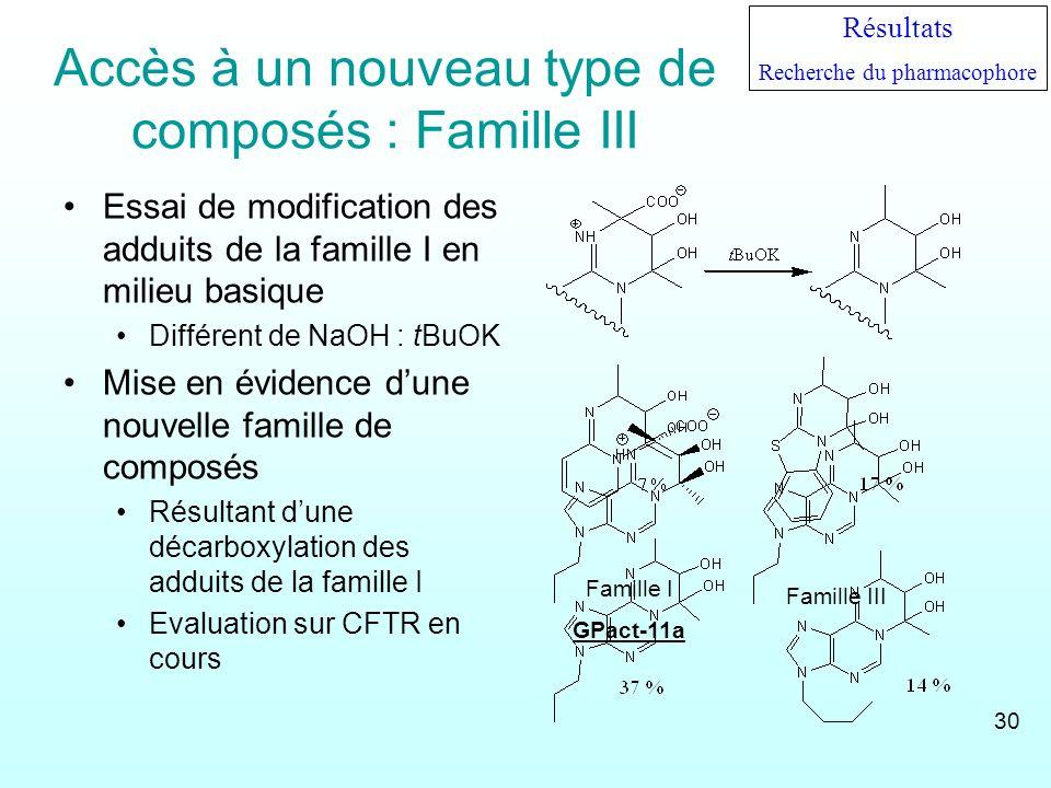 Accès à un nouveau type de composés : Famille III