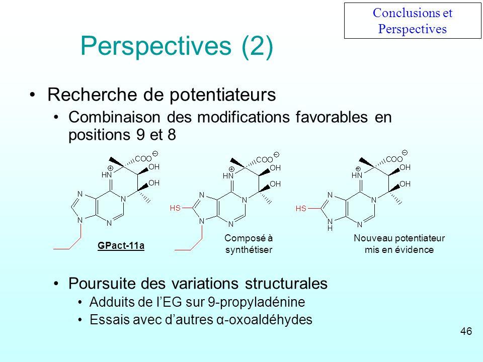 Perspectives (2) Recherche de potentiateurs
