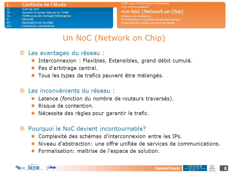 Un NoC (Network on Chip)
