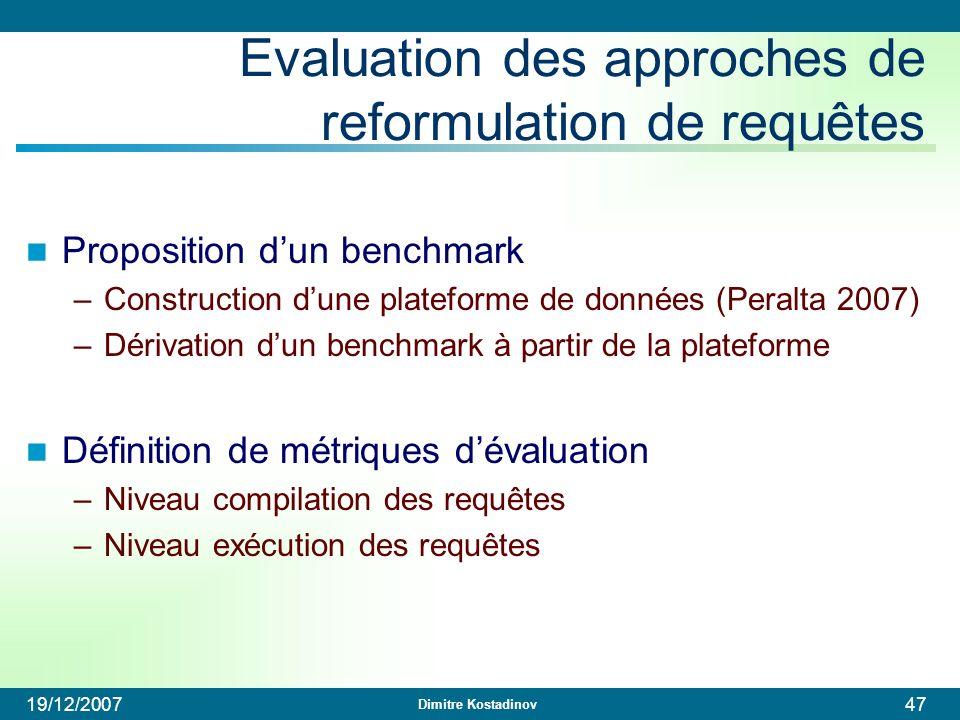 Evaluation des approches de reformulation de requêtes