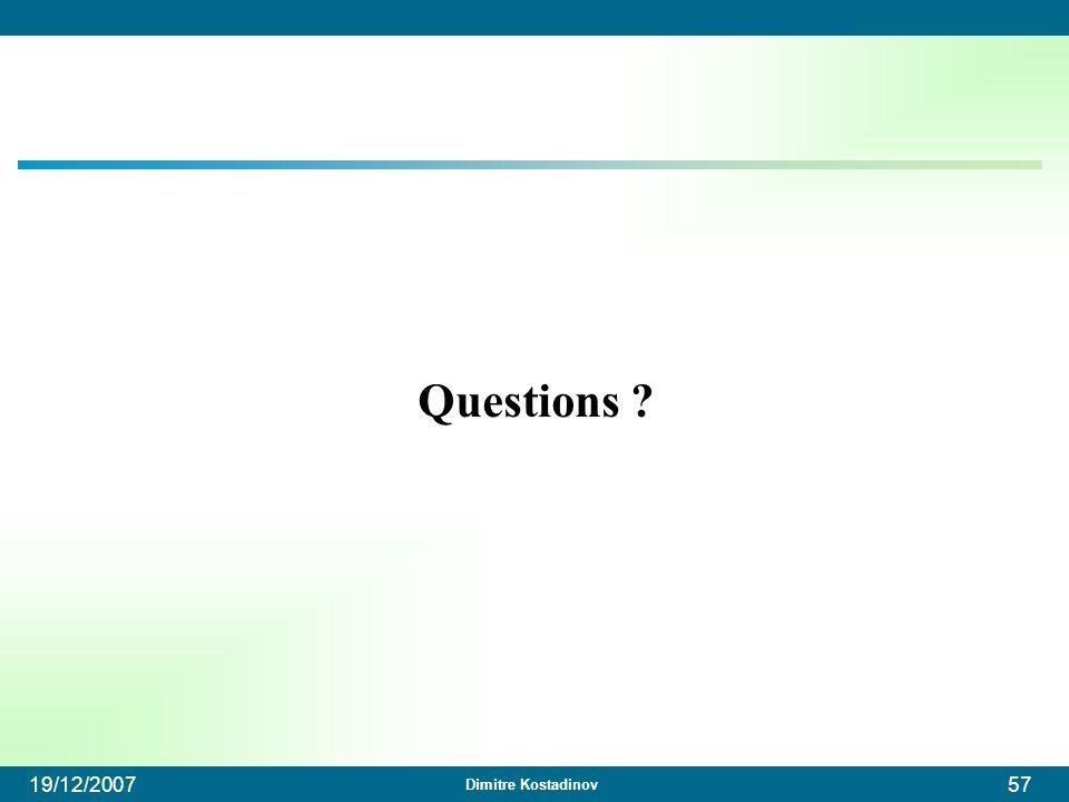 Questions 19/12/2007
