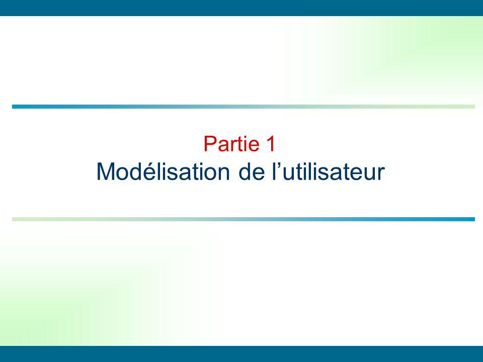 Partie 1 Modélisation de l'utilisateur