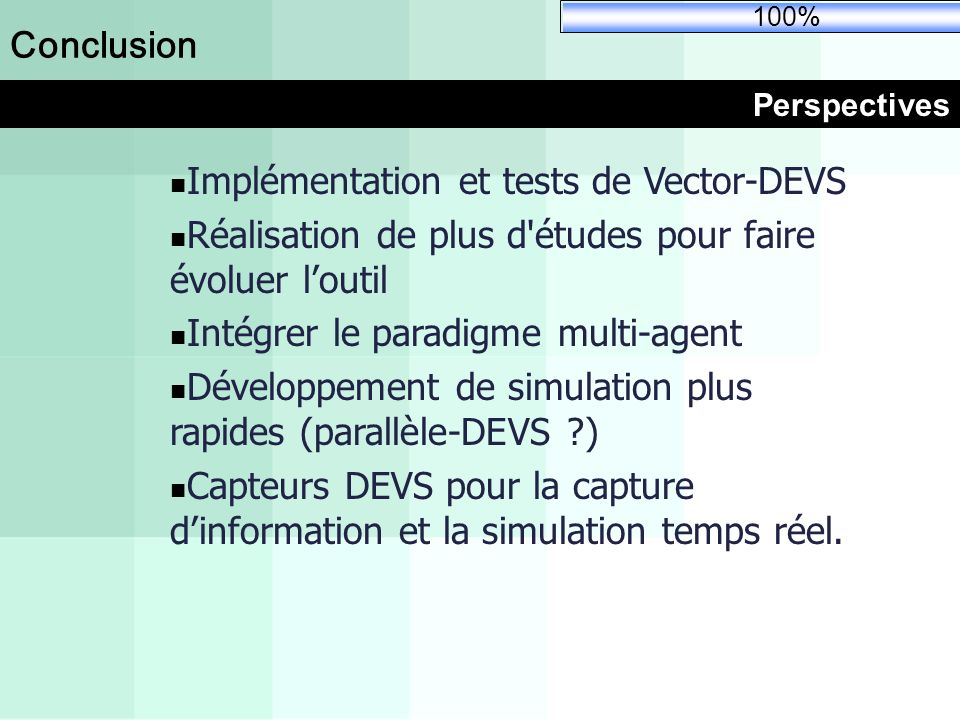 Implémentation et tests de Vector-DEVS