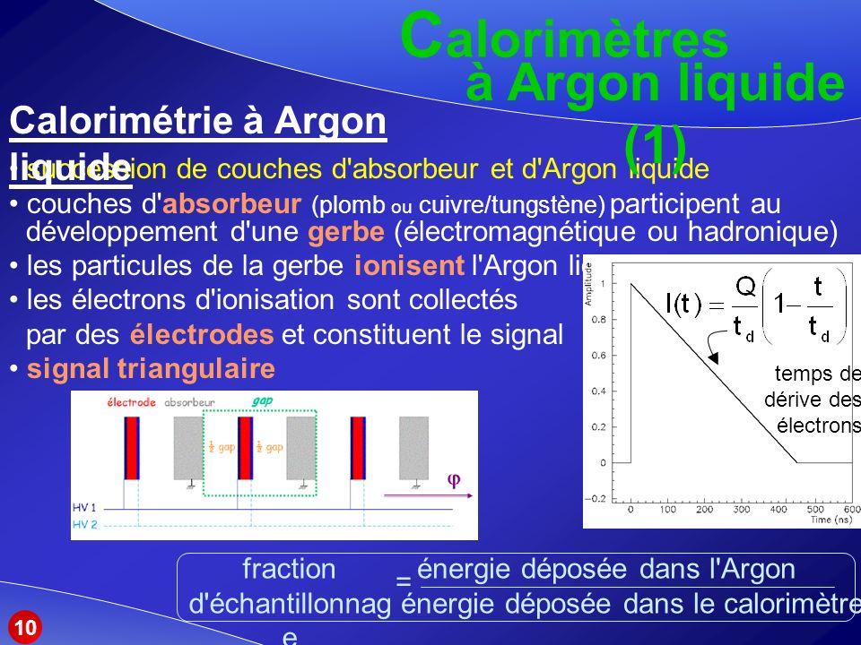 Calorimétrie à Argon liquide