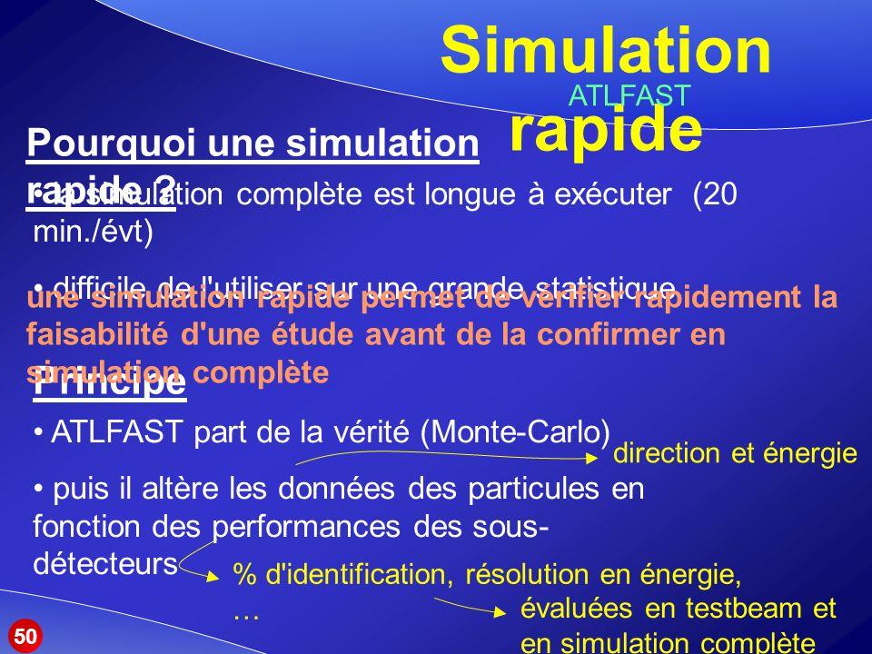 Pourquoi une simulation rapide