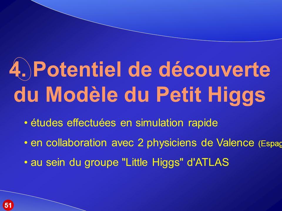 4. Potentiel de découverte du Modèle du Petit Higgs
