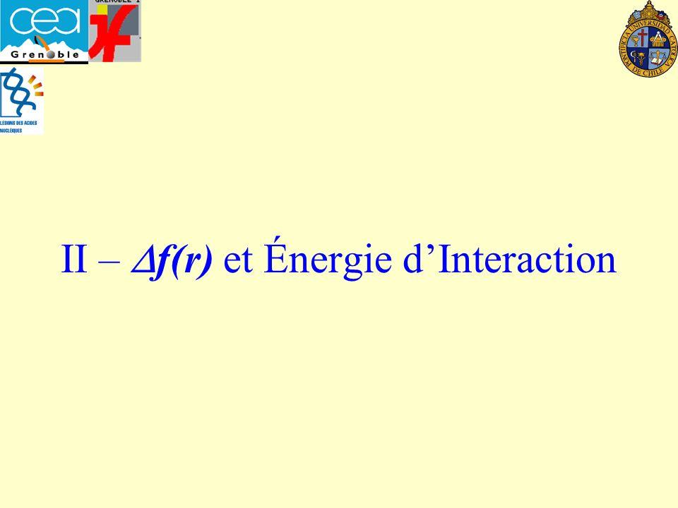 II – Df(r) et Énergie d'Interaction