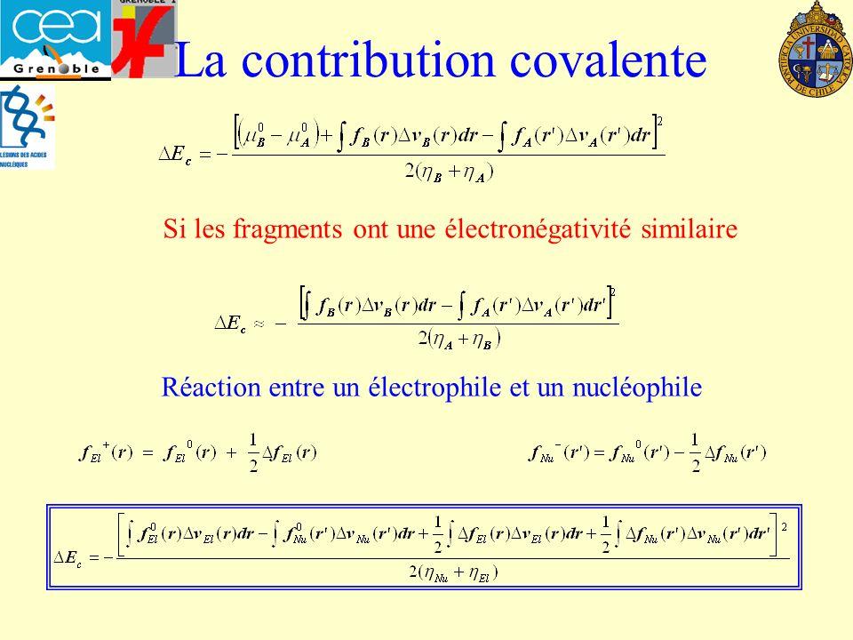 La contribution covalente