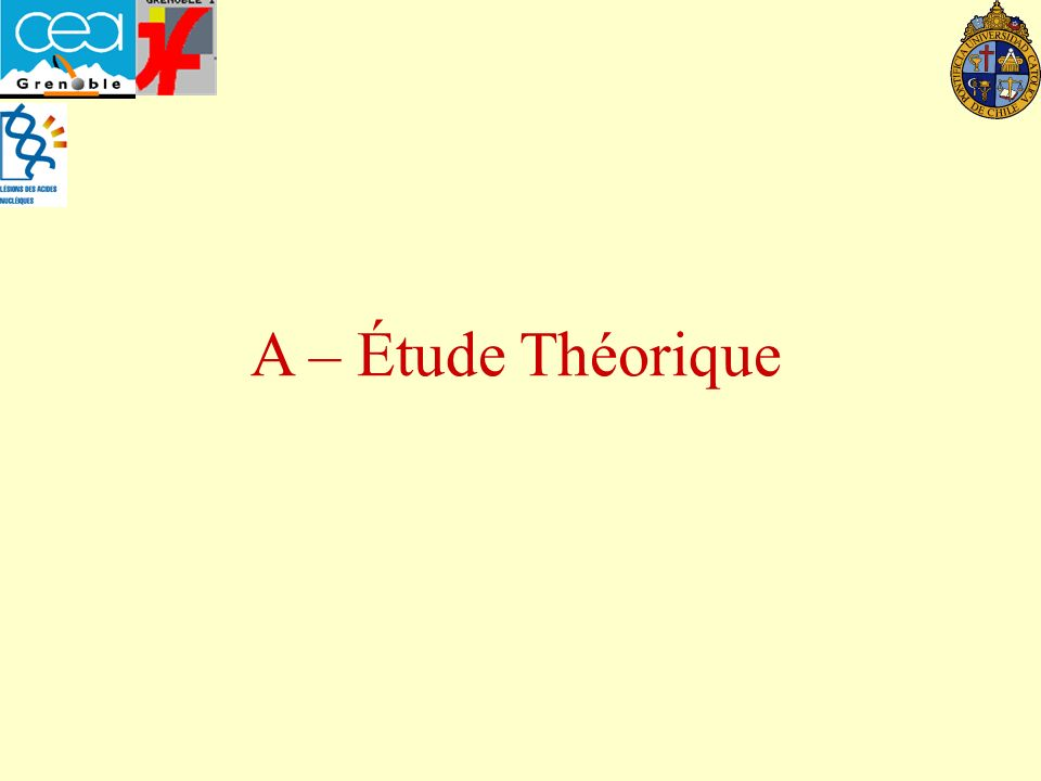 A – Étude Théorique