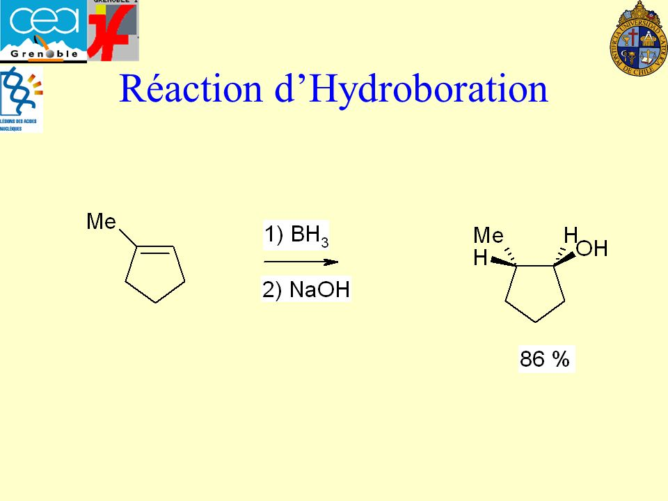Réaction d'Hydroboration