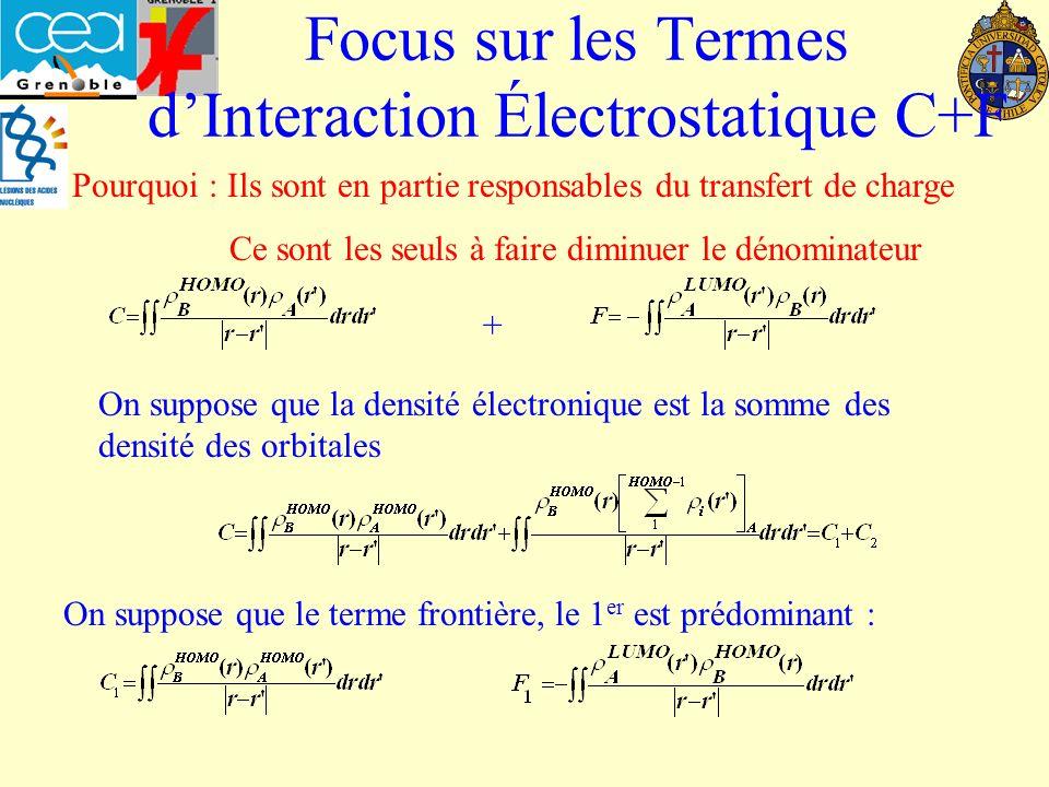 Focus sur les Termes d'Interaction Électrostatique C+F
