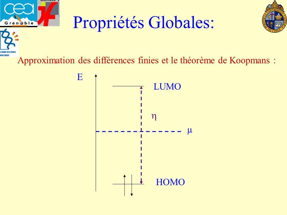 Approximation des différences finies et le théorème de Koopmans :
