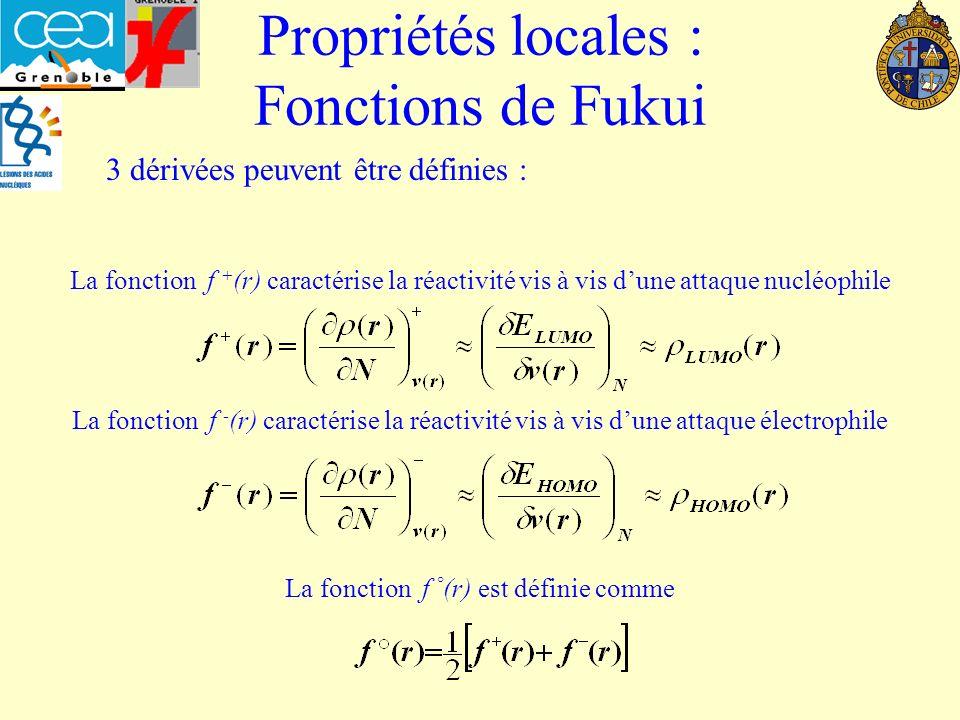 Propriétés locales : Fonctions de Fukui