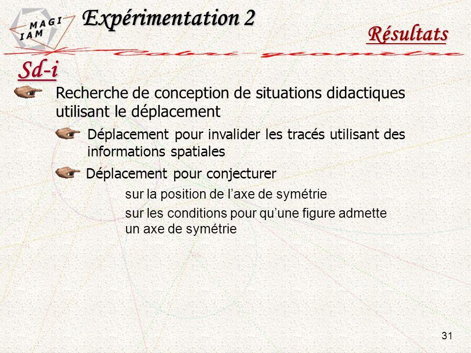 Expérimentation 2 Sd-i Résultats