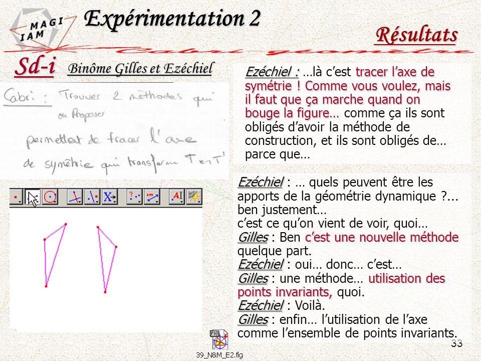 Expérimentation 2 Sd-i Résultats Binôme Gilles et Ezéchiel