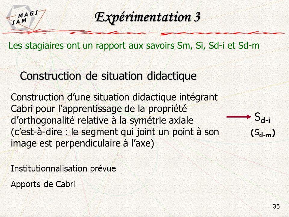 Expérimentation 3 Construction de situation didactique Sd-i
