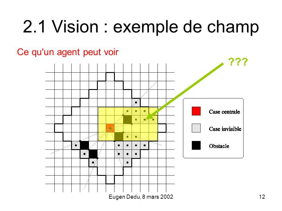 2.1 Vision : exemple de champ