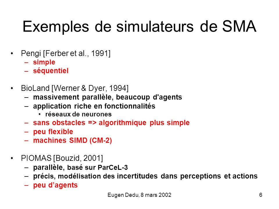 Exemples de simulateurs de SMA
