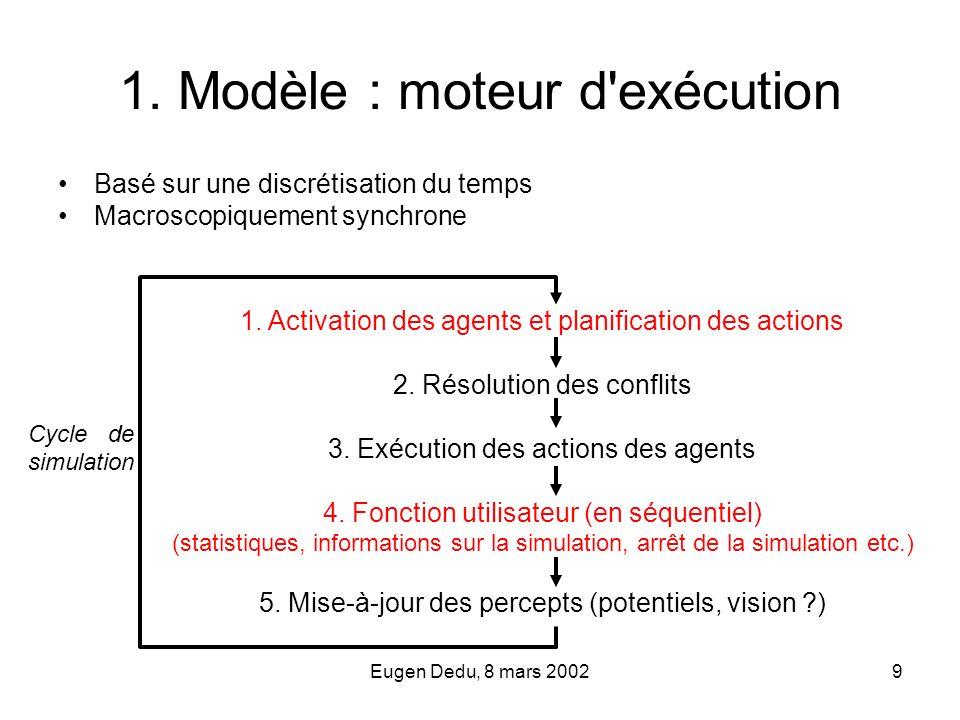 1. Modèle : moteur d exécution