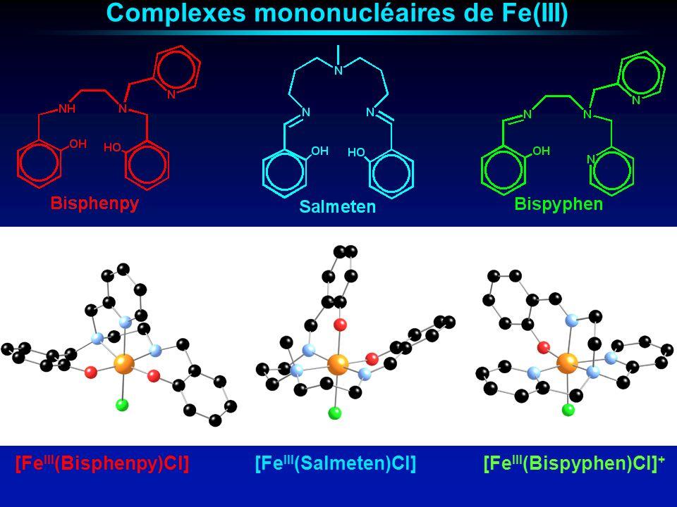 Complexes mononucléaires de Fe(III)