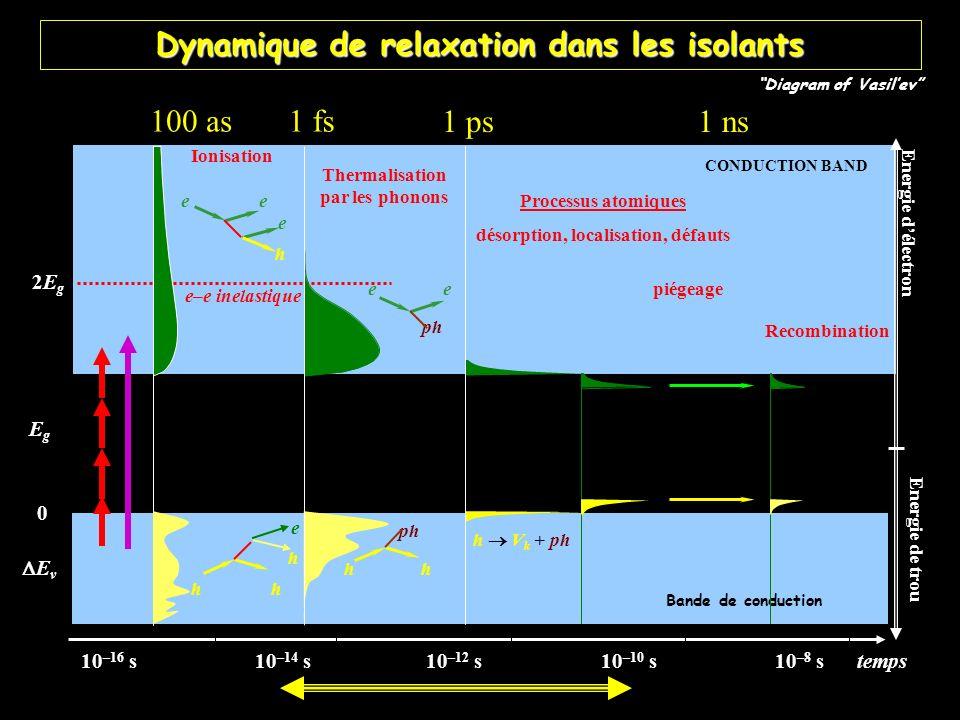 Dynamique de relaxation dans les isolants