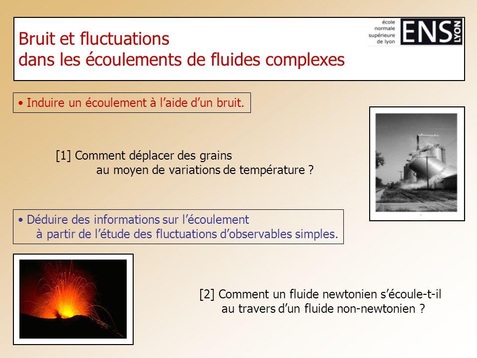 dans les écoulements de fluides complexes