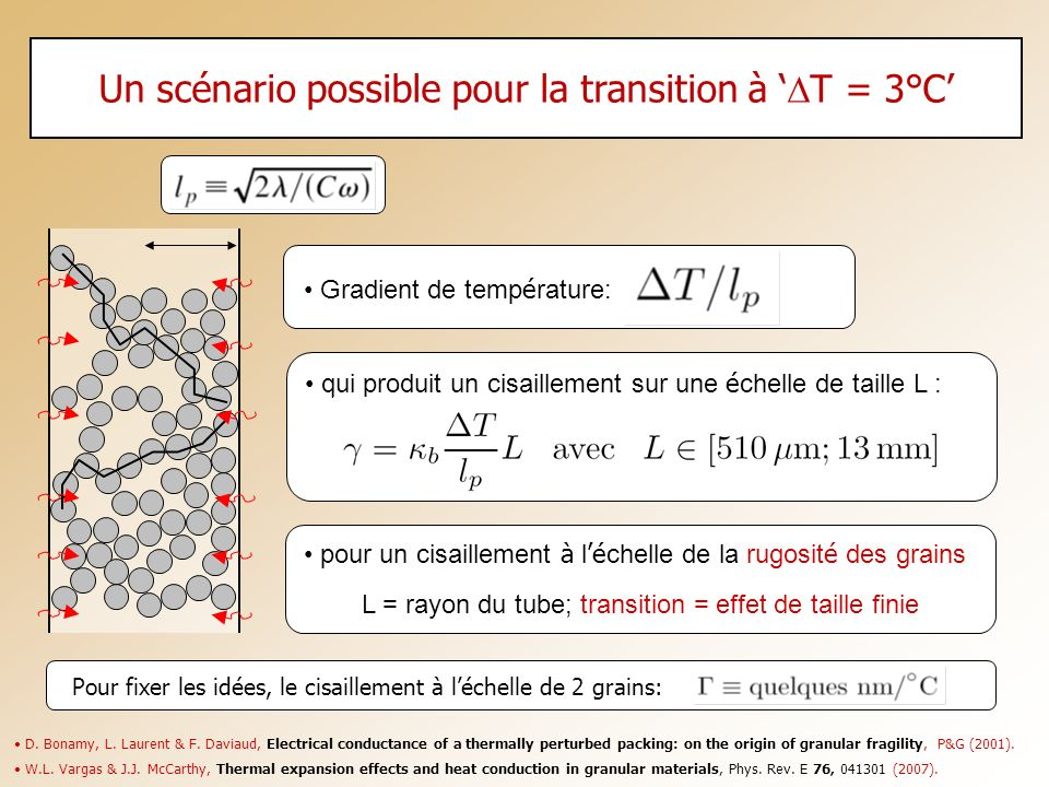 Un scénario possible pour la transition à 'DT = 3°C'