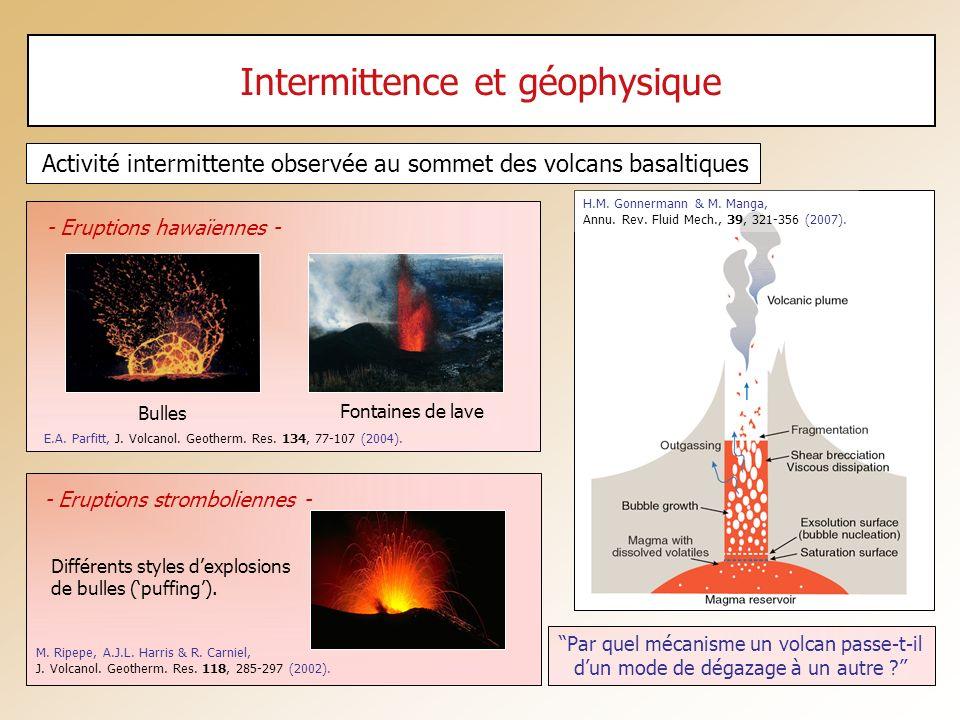 Intermittence et géophysique