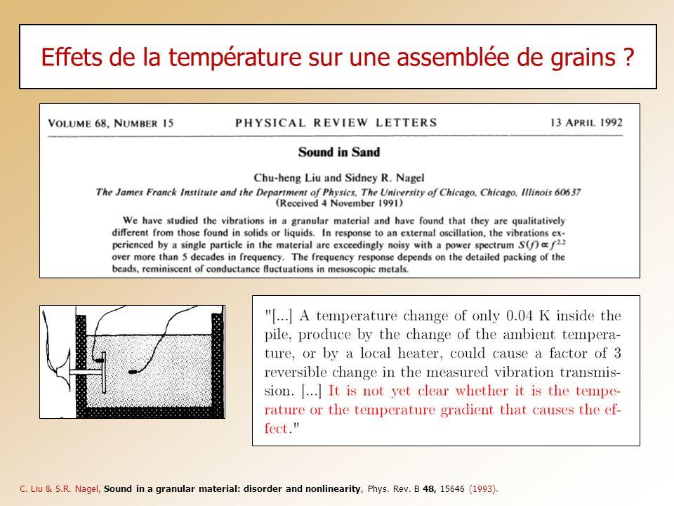 Effets de la température sur une assemblée de grains