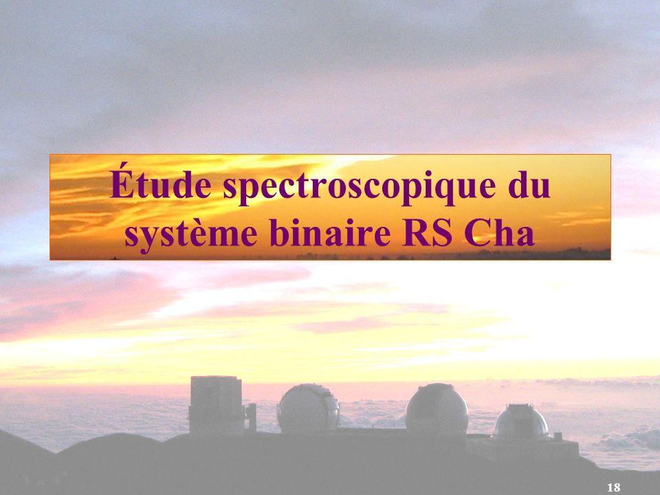 Étude spectroscopique du système binaire RS Cha