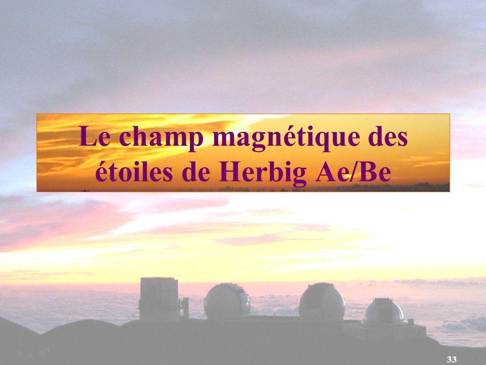 Le champ magnétique des étoiles de Herbig Ae/Be