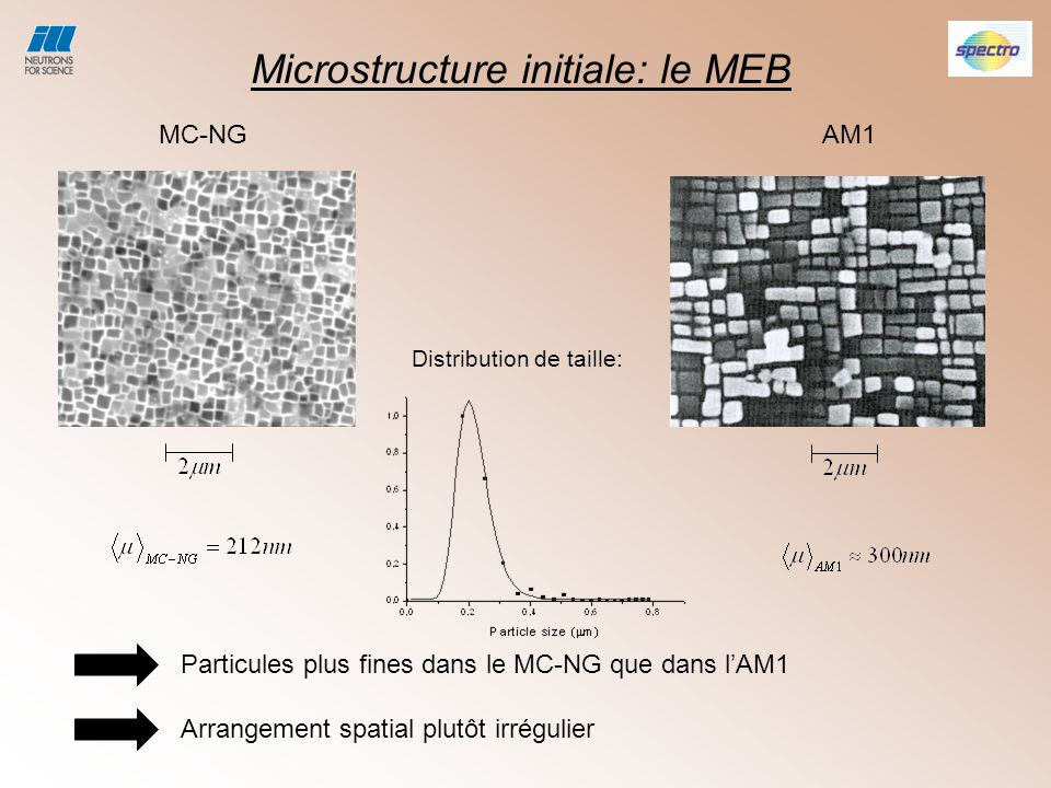 Microstructure initiale: le MEB