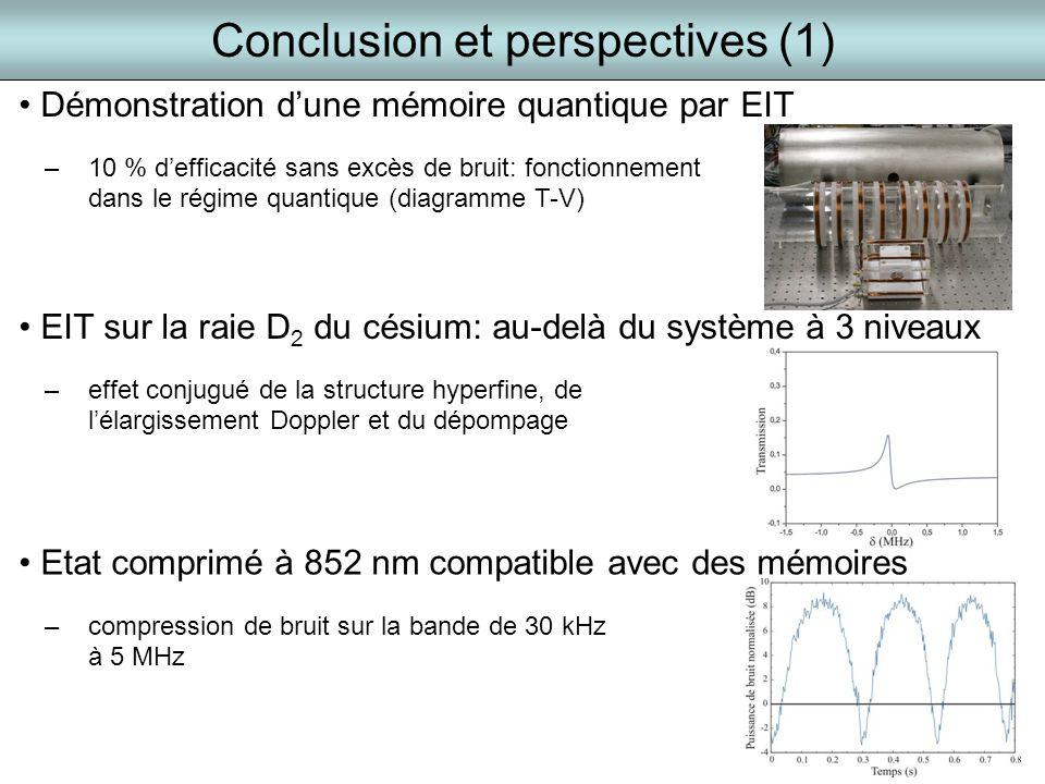 Conclusion et perspectives (1)