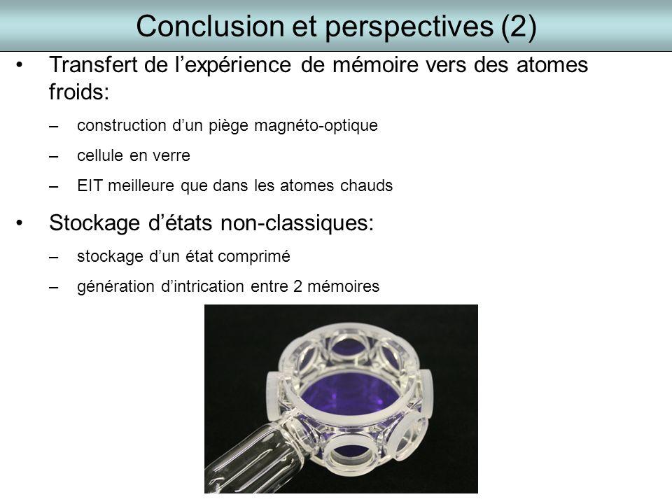 Conclusion et perspectives (2)