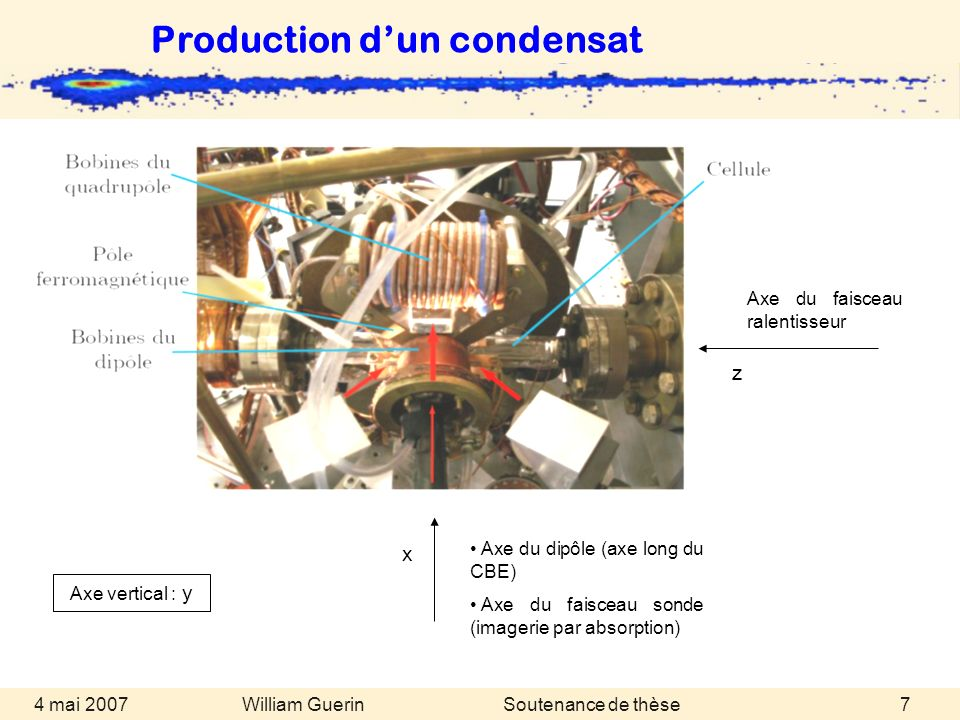 Production d'un condensat
