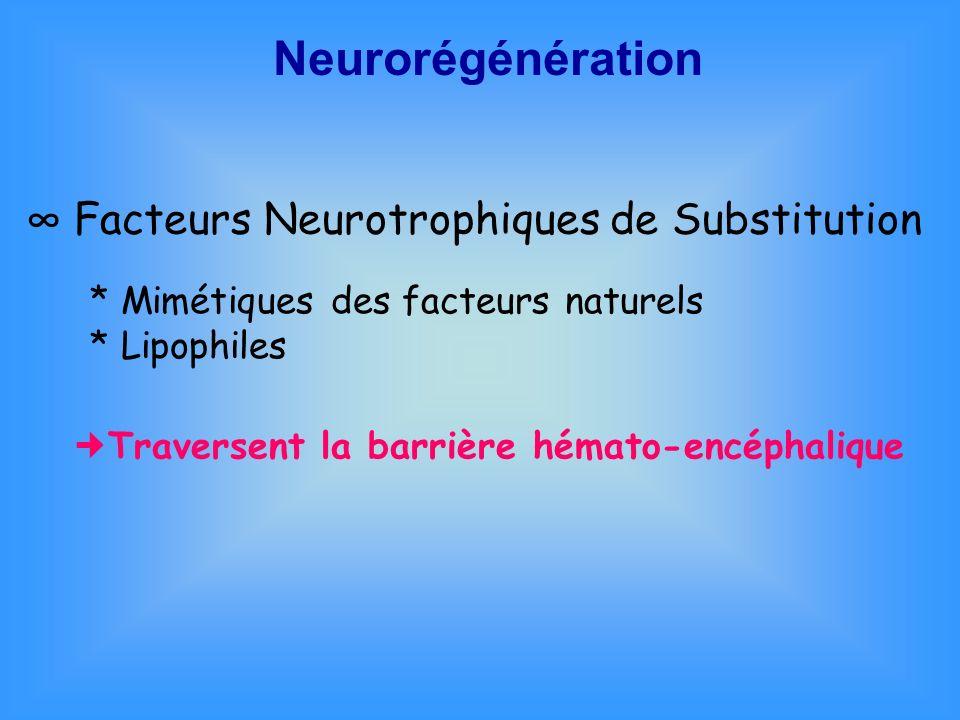 Neurorégénération ∞ Facteurs Neurotrophiques de Substitution