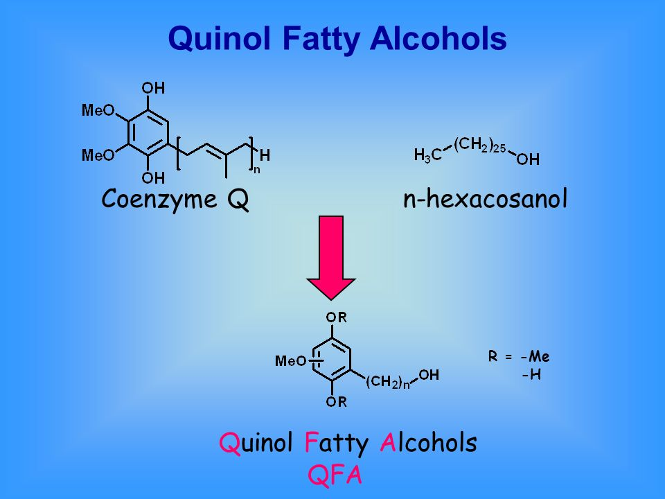 Quinol Fatty Alcohols Coenzyme Q n-hexacosanol Quinol Fatty Alcohols