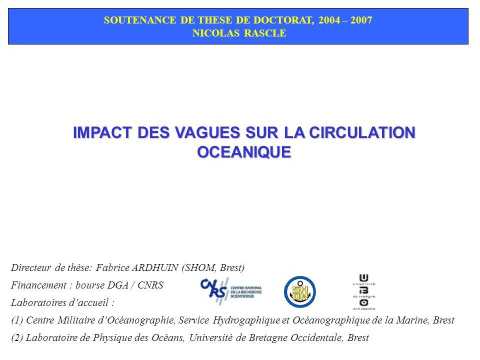 IMPACT DES VAGUES SUR LA CIRCULATION OCEANIQUE