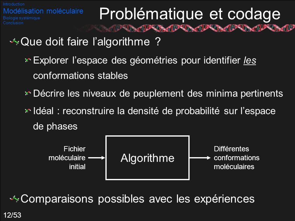 Problématique et codage