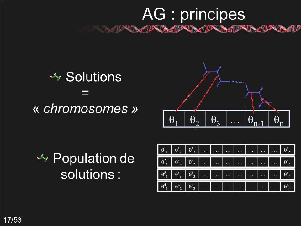 Population de solutions :