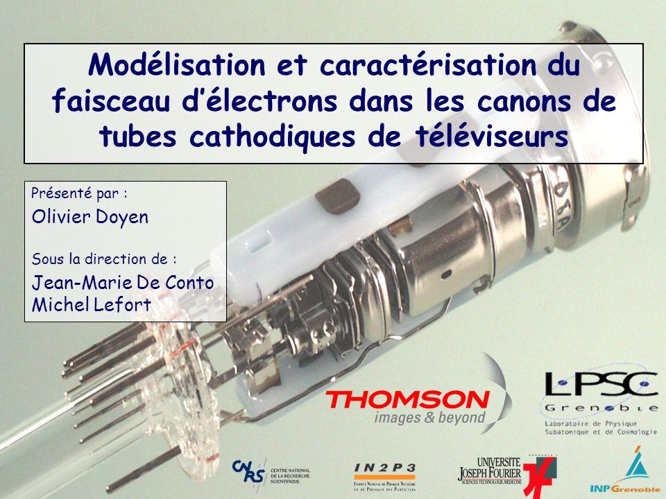 Modélisation et caractérisation du faisceau d'électrons dans les canons de tubes cathodiques de téléviseurs