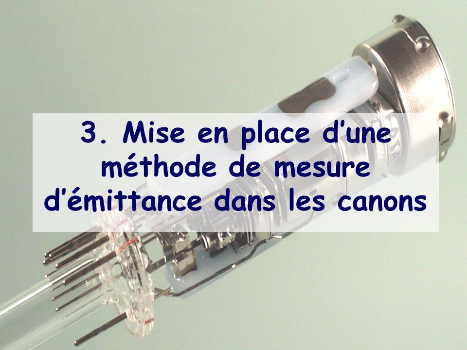 3. Mise en place d'une méthode de mesure d'émittance dans les canons