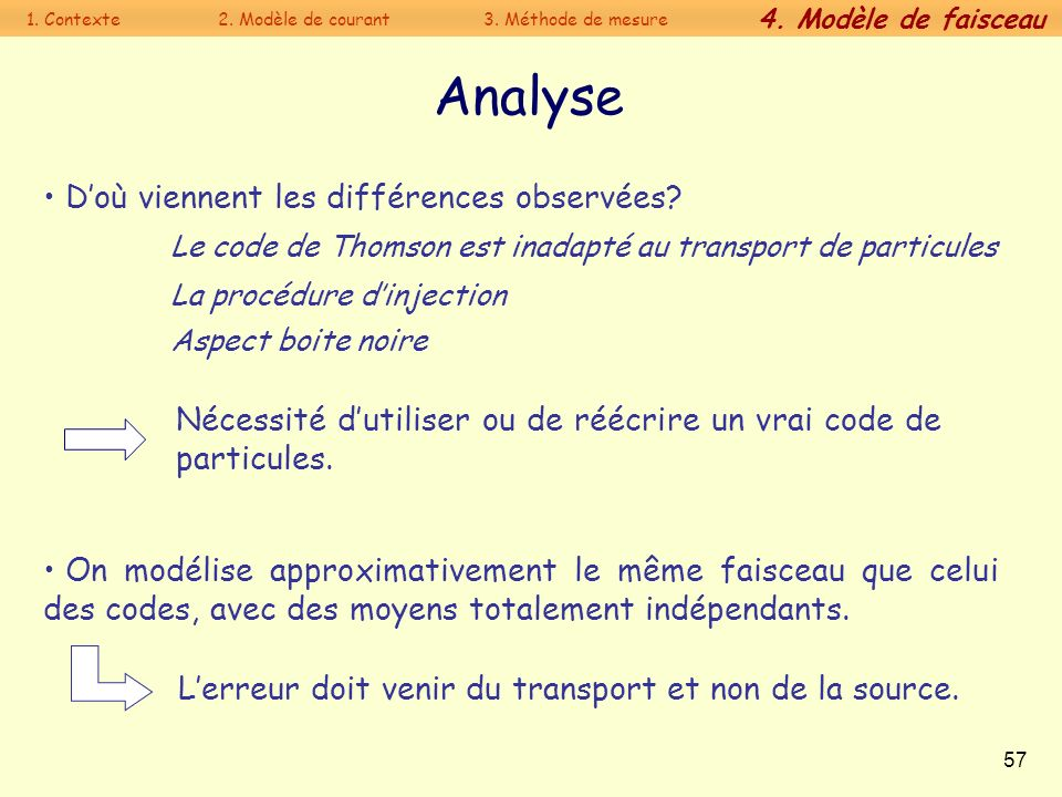 Analyse D'où viennent les différences observées