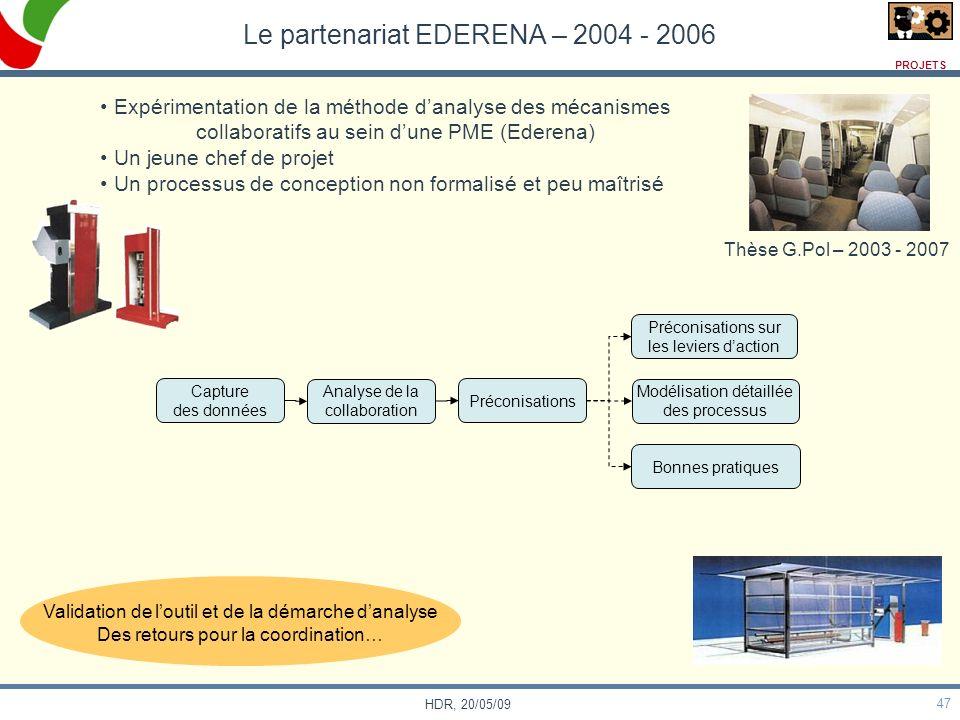 Le partenariat EDERENA – 2004 - 2006