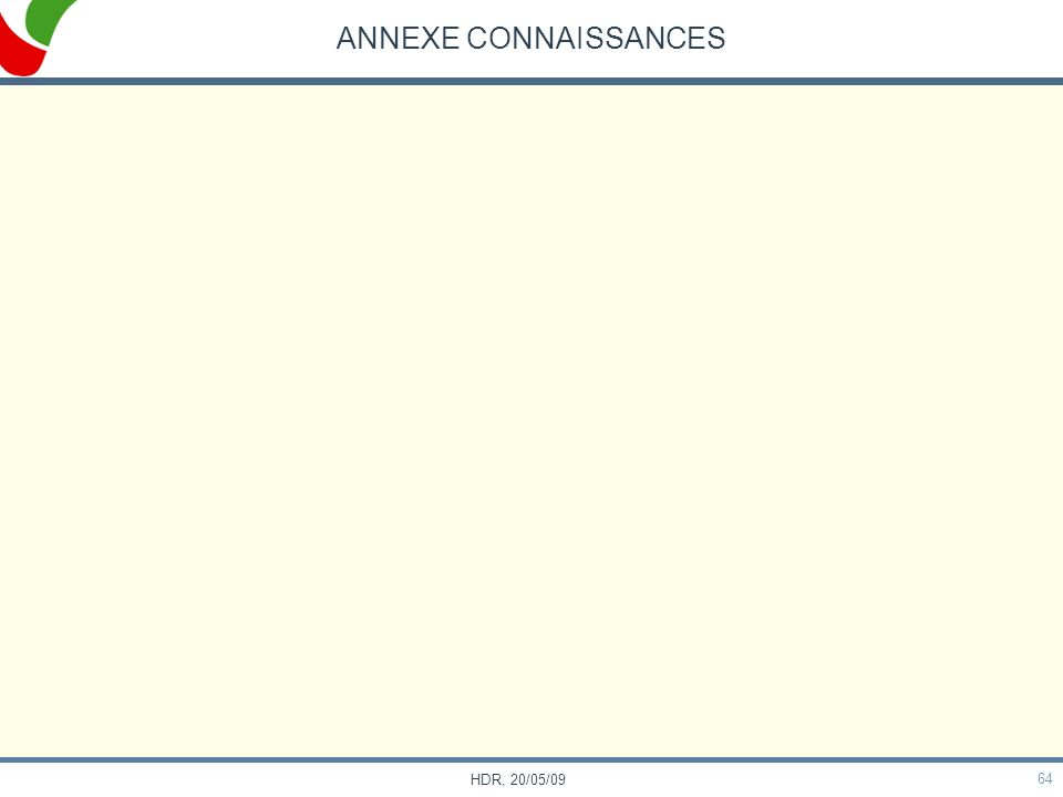 ANNEXE CONNAISSANCES HDR, 20/05/09