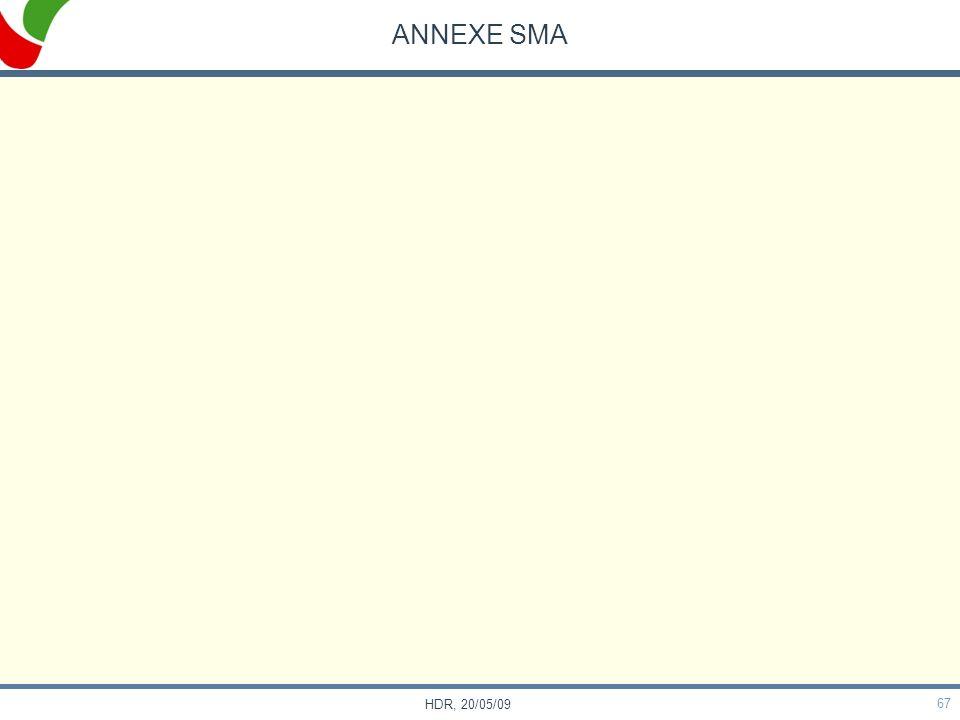 ANNEXE SMA HDR, 20/05/09