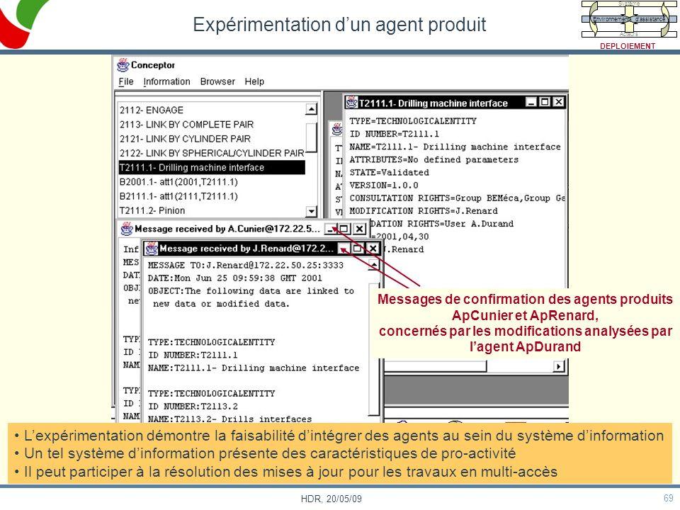 Expérimentation d'un agent produit