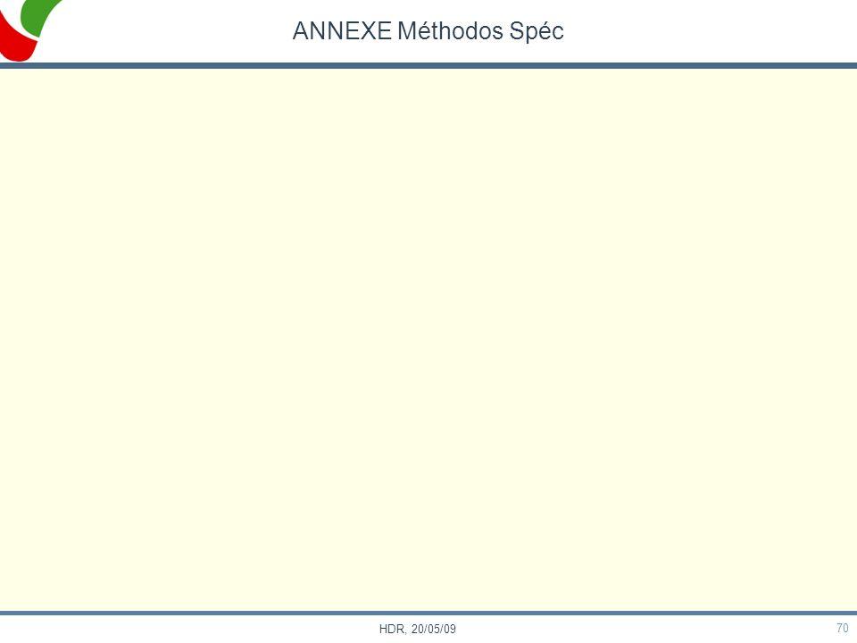 ANNEXE Méthodos Spéc HDR, 20/05/09